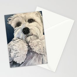 Small White Dog Stationery Cards
