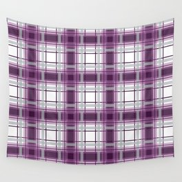 Plaid in Mauve, Pink and Gray Wall Tapestry