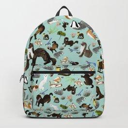 Mustelids from Spain pattern Backpack