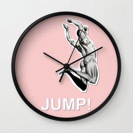 JUMP! Rose Quartz Wall Clock