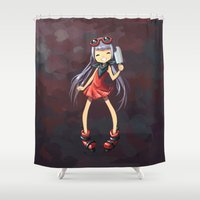 popsicle Shower Curtains featuring Popsicle by Freeminds