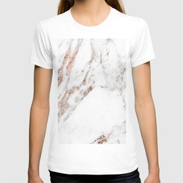 Rose gold foil marble T-shirt