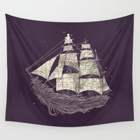 ilovedoodle Wall Tapestries featuring Wherever the wind blows by I Love Doodle