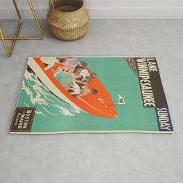 Vintage poster - Lake Winnipesaukee Rug