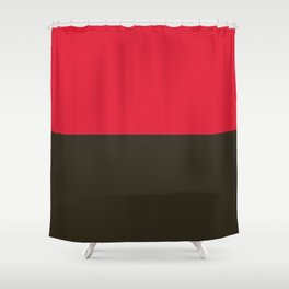 Raspberry Licorice Shower Curtain