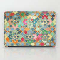 moroccan iPad Cases featuring Gilt & Glory - Colorful Moroccan Mosaic by micklyn
