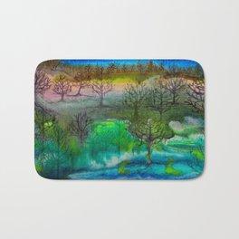 A Walk with Trees Bath Mat