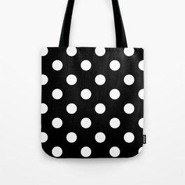 Polkadot (White & Black Pattern) Tote Bag