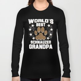 World's Best Schnauzer Grandpa Long Sleeve T-shirt