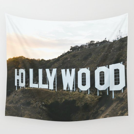 Hollywood Sign Los Angeles CA Wall Tapestry By Limitlessdesign