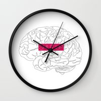 brain Wall Clocks featuring Brain by AMOSLIDE