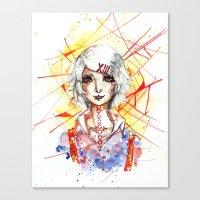 tokyo ghoul Canvas Prints featuring Tokyo Ghoul - Juuzou Suzuya by Kayla Phan