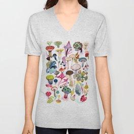 Mushroom Collection - b r i g h t s Unisex V-Neck