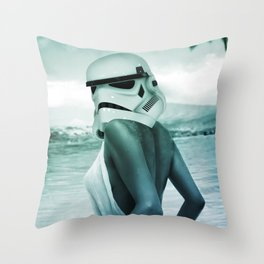 star storm trooper wars yoda girl horny slut tits slutty teen hot nice sexy curvy body curves pinup Throw Pillow