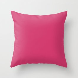 Raspberry Sorbet Color Accent Throw Pillow