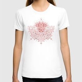 Sacred Lotus Mandala – Rose Gold & Blush Palette T-shirt