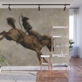 Western-style Bucking Bronco Cowboy Wall Mural