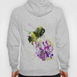 Bumblebee and Flowers floral bee design Hoody