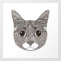 Mango Cat Art Print