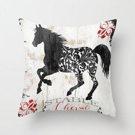 French Farms Horse Throw Pillow