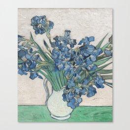Vincent van Gogh Irises Floral Purple Fine Art Museum Gallery Canvas Print