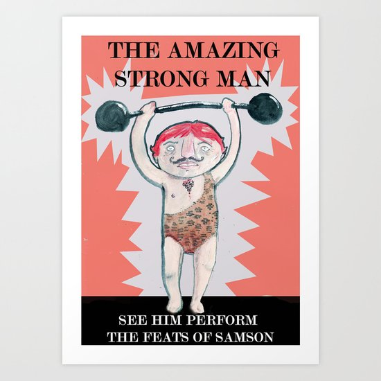 THE STRONG MAN Art Print