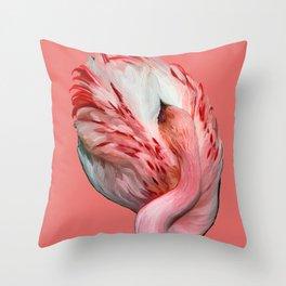 Sleeping Flamingo (flamingo pink) Throw Pillow