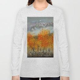 Aspens in the San Juans by Ainé Daveéd Long Sleeve T-shirt