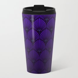 Variations on a Feather II - Raven Wing Metal Travel Mug