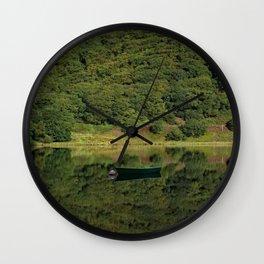 Llyn Mwyngil Reflection Wall Clock