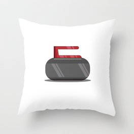 Curling Sports Player Funny I Only Have Stone For You Throw Pillow