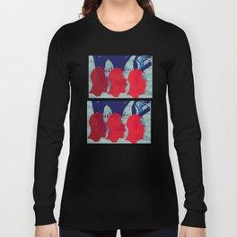 Stencil Head Long Sleeve T-shirt