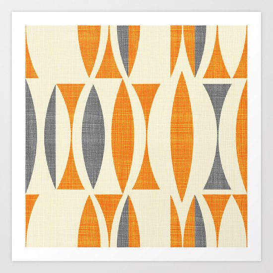 Seventies  orange Art Print