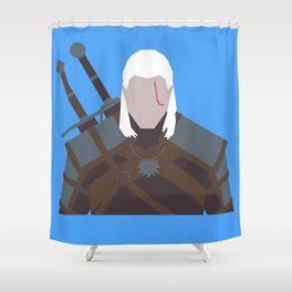 Geralt of Rivia - The Witcher Shower Curtain