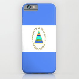 flag of nicaragua - Nicaraguans,Nicaragüense,Managua,Matagalpa,latine. iPhone Case
