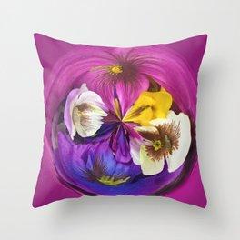 304 - Flower Fruit abstract design Throw Pillow