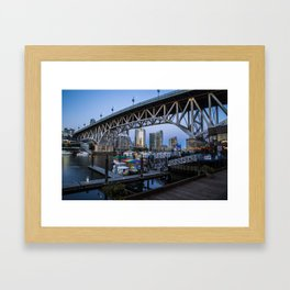 Granville Island Bridge Framed Art Print