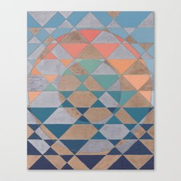 Circles and Triangles Canvas Print