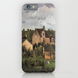 View of the Hermitage in Pontoise by Camille Pissarro iPhone Case