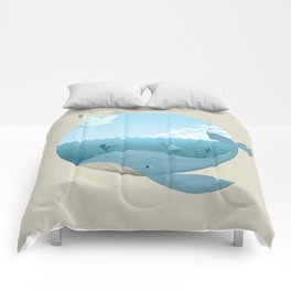 Whale & Seagull (US and THEM) Comforters
