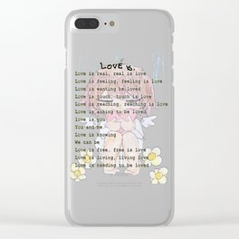 The Little Angel - Love Message Clear iPhone Case