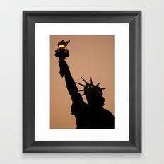 the liberty Framed Art Print