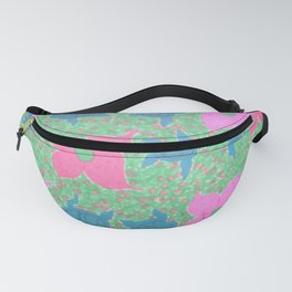 Turtles and Flowers Tropical Pattern Fanny Pack