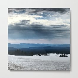 Crater Lake Mountains Metal Print