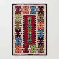 kilim Canvas Prints featuring Kilim pattern 026 by Ranka Stevic