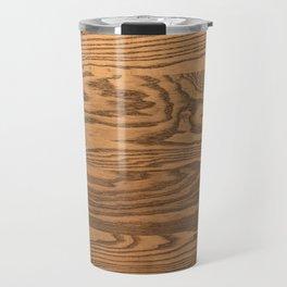 Wood 5, heavily grained wood Horizontal grain Travel Mug
