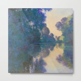 "Claude Monet ""Morning on the Seine near Giverny"" Metal Print"