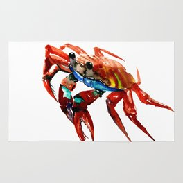 Crab, Sea World Crab Artwork Rug