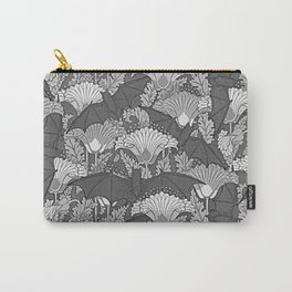 VINTAGE GREY BATS & WHITE LILIES Carry-All Pouch