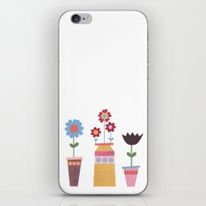 Floral Pots iPhone & iPod Skin